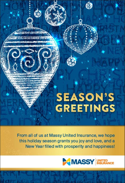 Massy United Insurance Seaon's Greetings